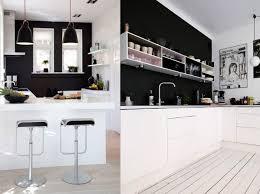 cuisine mur noir 20 inspirations pour une cuisine en noir et blanc