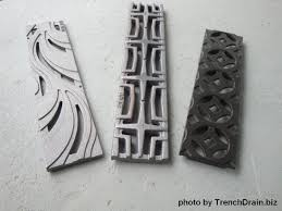 decorative grating plastic trench drain