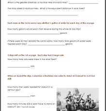 christopher columbus worksheet packet for 1st 3rd graders mamas