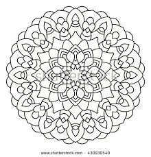 symmetry coloring pages symmetrical circular pattern mandala coloring page stock vector