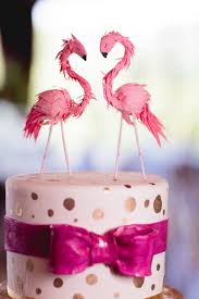 flamingo cake topper from anthropologie for a kate spade and lilly