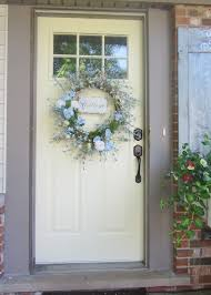 White Front Door Decoration Cool White Jambs And White Wall Painting For Your