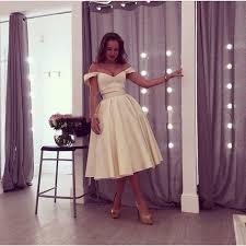 beige color fashion 2 pieces ankle length cocktail dresses