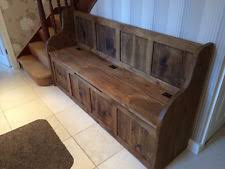 Rustic Storage Bench Wooden Rustic Storage Benches Ebay