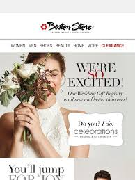 boston store wedding registry bostonstore say i do to our brand new wedding gift