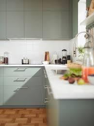 grey green kitchen cabinets a harmonious grey green bodarp kitchen ikea