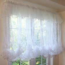 How To Make Balloon Shade Curtains White Balloon Valance Design Idea And Decorations Decorating
