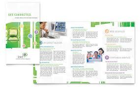 isp internet service brochure template word u0026 publisher