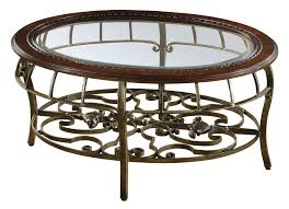Coffee Table With Metal Base by Round Beveled Glass Table Traditional Coffee Table With Metal