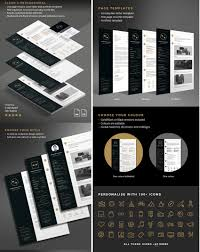 indesign resume template 50 professional resume cv templates black and gold resume template