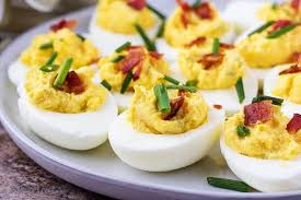 deviled eggs serving dish instant pot deviled eggs with bacon berly s kitchen