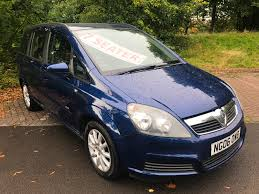 used vauxhall zafira 1 6 for sale motors co uk