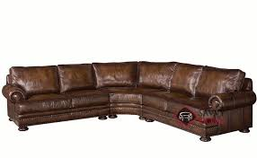 Leather Blend Sofa Foster Leather True Sectional Sofa With Blend Cushions By