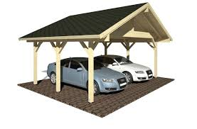 Car Port For Sale Traditional Style Pitched Roof Wooden Carport For Two Cars