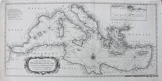 Map Of The Mediterranean A Correct Chart Of The Mediterranean Sea From The Straits Of