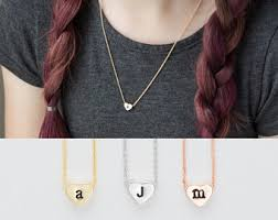 children s initial necklace for children s initial necklace lowercase personalized