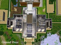 modern mansion floor plans sims 3 homes zone bright alovejourney me