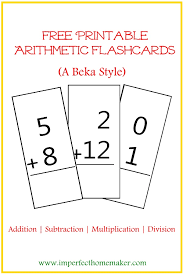 free printable arithmetic flashcards flashcard a beka and free