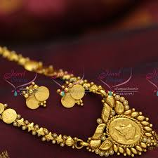 gold plated simple necklace images Nl3972 indian traditional temple jewellery antique gold plated JPG