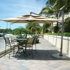 Cantilever Patio Umbrella With Base 10 Square Cantilever Patio Umbrella With Granite Base Anova