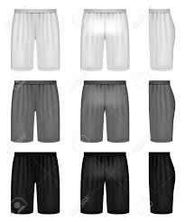 shorts shades of gray clothing set royalty free cliparts
