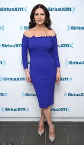catherine zeta jones catherine zeta jones dons cobalt dress in new york daily mail online