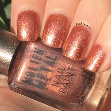 barry m copper mine molten metals collection nail polish swatch