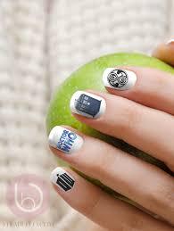 doctor who nail decal nail design nails press on nail decal