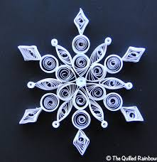 the quilled rainbow quilled snowflake quilling flocons