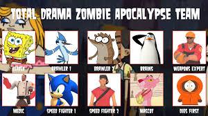 Zombie Apocalypse Meme - my total drama zombie apocalypse team meme by artapon on deviantart