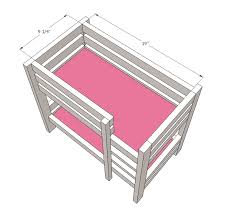 18 Doll House Plans Free by Ana White Build A Doll Bunk Beds For American Doll And 18
