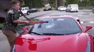 jake paul car jake paul smashes fellow youtuber s ferrari windshield