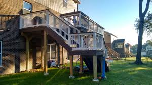 multi level deck in plainfield il
