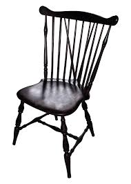Black Wooden Chair Png Antique Windsor Wood Spindle Back Dining Chair Chairish