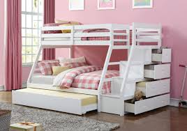 Bunk Bed Storage Stairs White Bunkbed With Storage Stairs