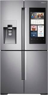 Samsung Cabinet Depth Refrigerator Samsung Family Hub 2 0 22 0 Cu Ft 4 Door Flex French Door