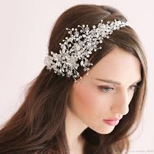 bridal headpiece handmade bridal sparking headpiece beaded wedding