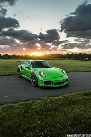 green porsche porsche 911 gt3 rs jeremy cliff