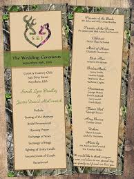 customizable wedding programs wedding programs camo wedding program customizable wedding
