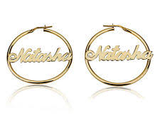 Personalized Name Earrings Gold Plated Name Earrings Ebay