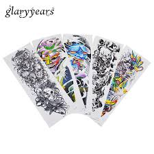 large flower tattoo designs aliexpress com buy 5 pieces fake large full arm temporary tattoo