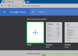 docs travel brochure template how to make a brochure using docs wikihow