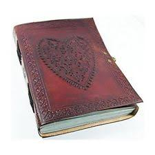 leather album heart embossed leather journal photo album handmade on paper bound