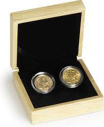 wedding gift gold golden wedding 50th anniversary sovereign set gift boxed 923