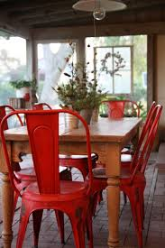 Dishfunctional Designs Vintage Red Painted Furniture Might - Red kitchen table and chairs