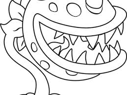 plants vs zombies coloring pages chomper ghost study