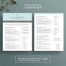 modern resume template word 2007 27 best etsy resume templates etsy cv templates images on