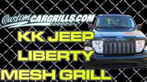 2012 jeep liberty light bar jeep liberty kk mesh grill installation by customcargrills com