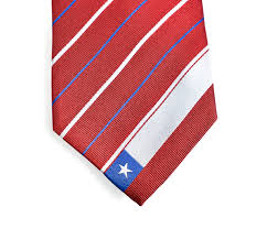 Cile Flag Chile Tie Inspired By The Chilean Flag With Personalized
