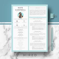 Modern Resume Samples by Resume Templates Hired Design Studio
